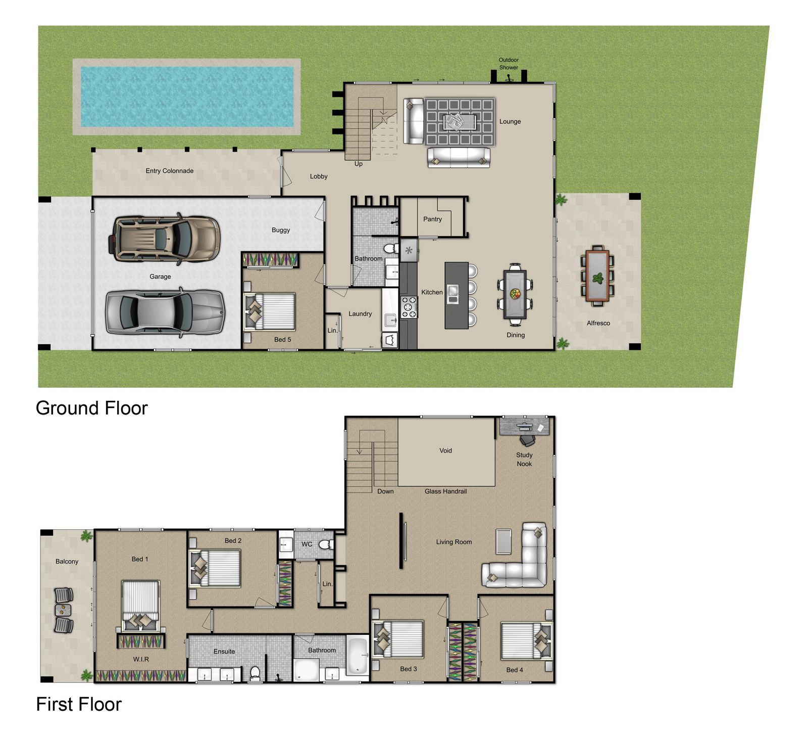 Beachside floorplan