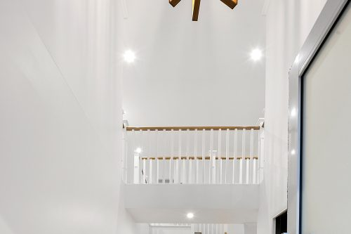 Hallway of a white themed house