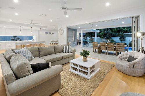 White themed lounge area